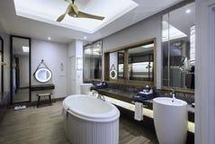Inre badrumdesign Arkivfoto