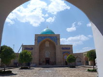 Inre Barak-Khan Madrasah i Tasjkent, Uzbekistan Arkivfoto