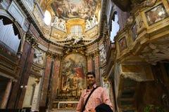 Inre basilika av helgonet Mary Major Royaltyfri Fotografi