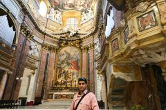 Inre basilika av helgonet Mary Major Fotografering för Bildbyråer