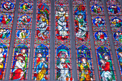 Målat glassfönster Arkivbild