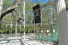 Palacio de Cristal inre Arkivfoton