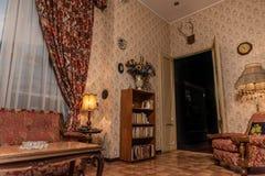 Inre bild av ett femtiotalhus, horisontalbild Royaltyfria Bilder