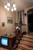 Inre bild av ett femtiotalhus, vertikal bild Fotografering för Bildbyråer
