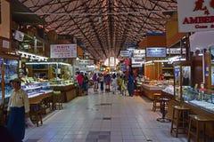 Inre Bogyoke Aung San för smyckenavsnitt marknad Arkivbilder