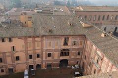 Inre borggård av Santa Maria della Scala italy siena tuscany Arkivfoto