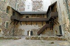Inre borggård av Turku slott, en av de äldsta byggnaderna fortfarande som är i bruk i Finland, Skandinavien arkivfoton