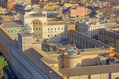 Inre borggård av Vaticanenmuseet, Rome royaltyfria bilder