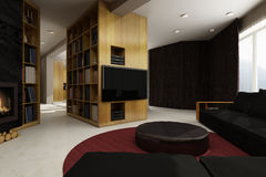 inre bostads för hus Fotografering för Bildbyråer