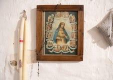 Inre Casa Grotta di vico Solitario Matera, Itay för bild och för halsband royaltyfria foton