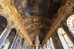 Inre Chateau av Versailles, Versailles, Frankrike Royaltyfria Foton