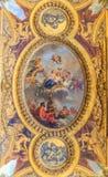 Inre Chateau av Versailles, Versailles, Frankrike Royaltyfria Bilder