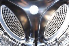 Inre closeup för tvagningmaskin Arkivbild