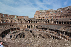 Inre Colosseum Royaltyfria Foton