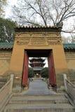 Inre dörr av den stora moskén för xian huajuegränd, Adobe rgb Arkivbilder