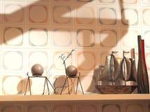 Inre dekorativ vägg Fotografering för Bildbyråer