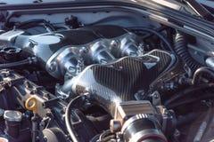 Inre design av närbilden för bilmotor Royaltyfri Fotografi