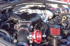 Inre design av närbilden för bilmotor Royaltyfria Foton