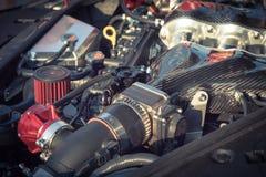 Inre design för tappningsignal av närbilden för bilmotor Arkivfoto