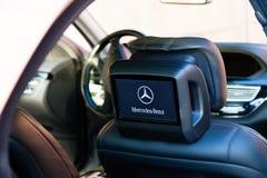 Inre (Designo) av använd Mercedes-Benz S-grupp S350 länge (W221 Arkivfoton