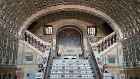Inre detalj av Santa Maria Cathedral i Cagliari, Sardinia Italien Arkivbild