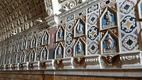 Inre detalj av Santa Maria Cathedral i Cagliari, Sardinia Italien Arkivfoton