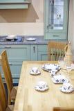 Inre detalj för flott kök fotografering för bildbyråer
