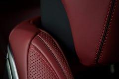Inre detalj för lyxig bil royaltyfria foton
