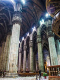 Inre Duomo av Milan Arkivfoto