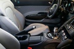 Inre för Audi sportbil Arkivbilder