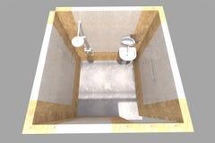 inre för badrummet 3D framför i Armenien Royaltyfri Fotografi