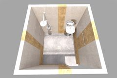 inre för badrummet 3D framför i Armenien Arkivfoto