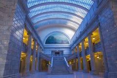 Inre för byggnad för Utah statKapitolium Fotografering för Bildbyråer