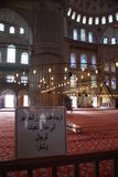 Inre för Istambul blåttmoské Royaltyfria Bilder