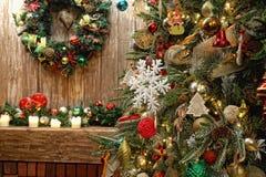 Inre för jul och för nytt år fotografering för bildbyråer