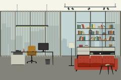 Inre för kontor för direktör` s royaltyfri illustrationer