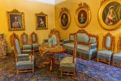 Inre för konung Nicholas Museum Arkivfoton