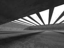 Inre för mörkerbetongrum Industriella lodisar för abstrakt arkitektur stock illustrationer
