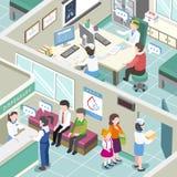 Inre för medicinsk klinik vektor illustrationer