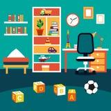 Inre för rum för unge för skolastudentpojke Arkivbilder