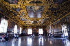 Inre för slott för doge` s Royaltyfria Foton