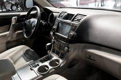 Inre för sportbil, taxi royaltyfria bilder