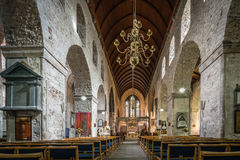 Inre för St Mary Cathedral royaltyfri foto