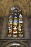 Inre för St Patrick Cathedral från midtownen Manhattan i New York City i Förenta staterna royaltyfri bild