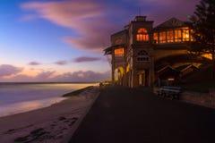 Inre för strand House royaltyfri foto