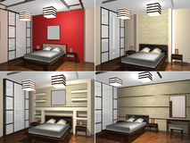Childs sovrum, tolkning 3D Arkivfoto