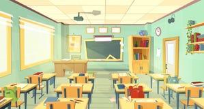 Inre för vektorskolaklassrum Universitet högskolabegrepp vektor illustrationer