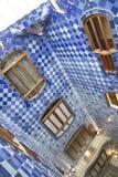 Inre fasad av casaen Batllo royaltyfri fotografi