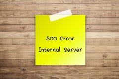 Inre fel för server 500 Royaltyfria Foton