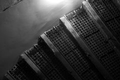 Inre fragment för abstrakt grunge med rostad trappa Royaltyfria Bilder